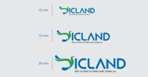 Kích thước logo được thay đổi tuỳ biến trên các ấn phẩm