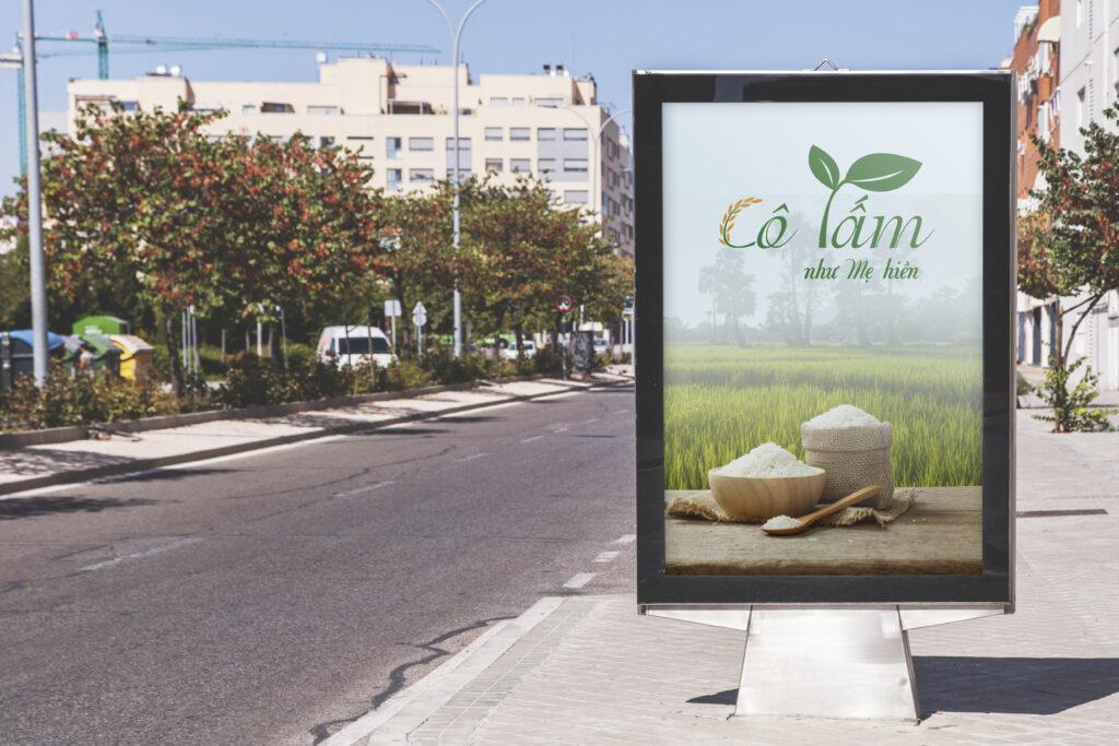 Banner bán hàng gạo Cô Tấm